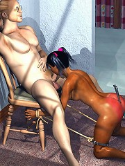 Cock addict 3D Maid takes a ride
