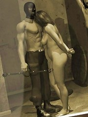 Tied up 3D Lesbian with amazing body