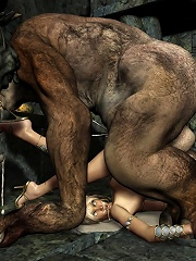 Babe craving Dark Lord and getting mouth creamed