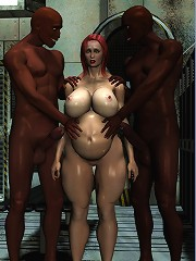 Secretary sharing 3D Guys cock as getting banged