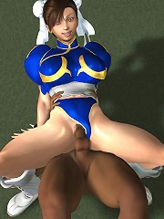 Cock craving Toon Girlie deals with 3D Giant